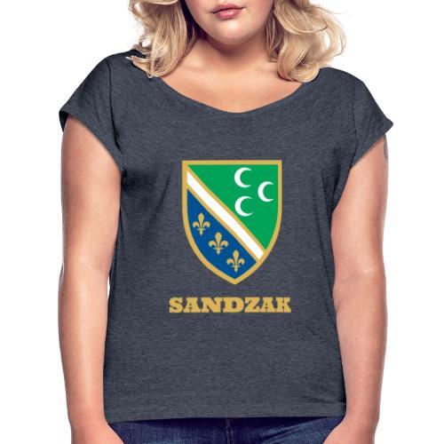 sandzak - Frauen T-Shirt mit gerollten Ärmeln