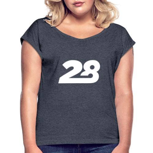 28 White - Women's T-Shirt with rolled up sleeves