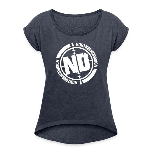 ND CROSSHAIR 10 - Naisten T-paita, jossa rullatut hihat