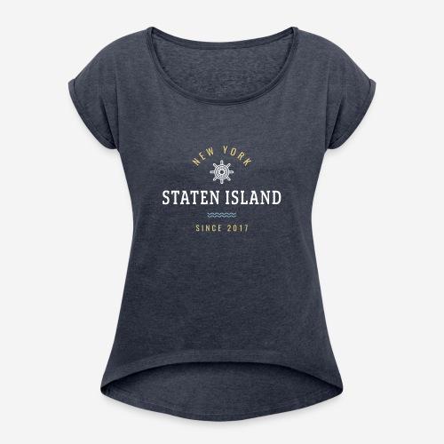 NWE YORK - STATEN ISLAND - Maglietta da donna con risvolti