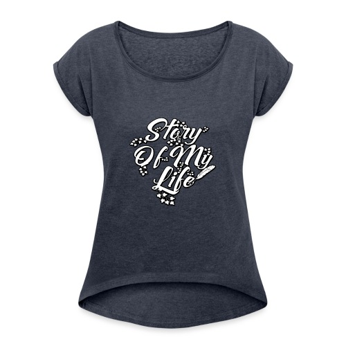 soml-first - Frauen T-Shirt mit gerollten Ärmeln