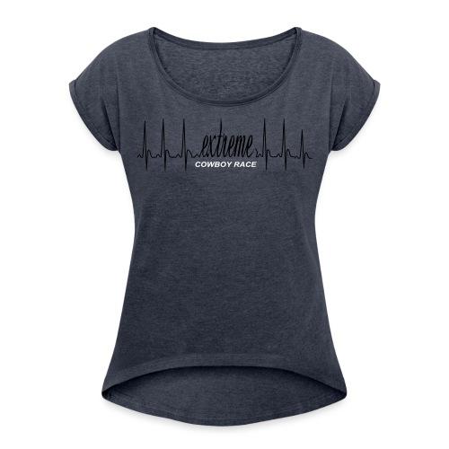 Zeichnung - T-shirt à manches retroussées Femme