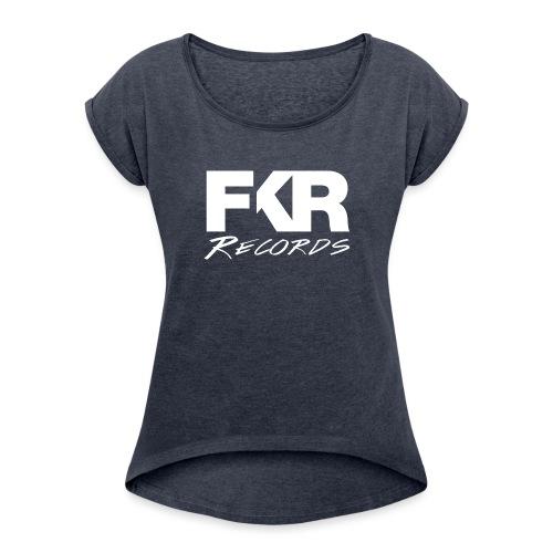 FKR transparent white - T-shirt à manches retroussées Femme