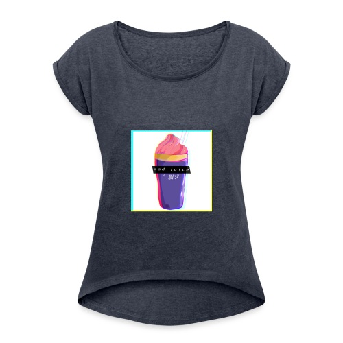 Sad juice - Women's T-Shirt with rolled up sleeves