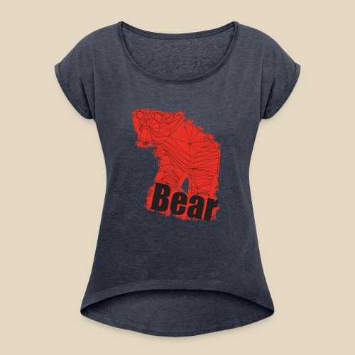 Red Bear - T-shirt à manches retroussées Femme
