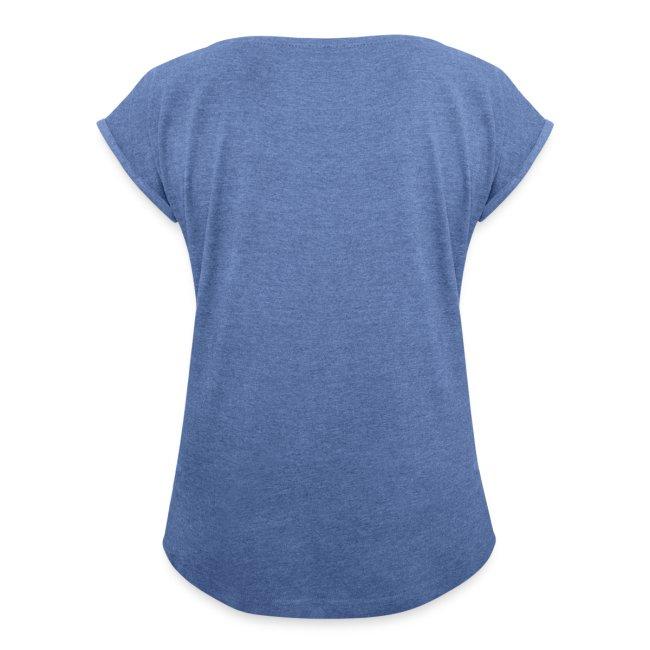 Vorschau: yin yang cat - Frauen T-Shirt mit gerollten Ärmeln