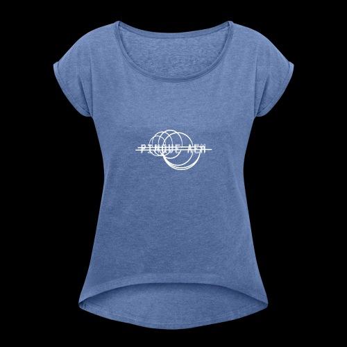 Pinque AEM Bianco - Maglietta da donna con risvolti