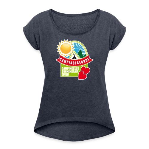 CC Zeven 01 - Frauen T-Shirt mit gerollten Ärmeln