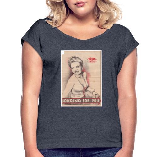 Désir de toi - T-shirt à manches retroussées Femme