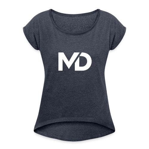 MD Clothing Official© - T-shirt à manches retroussées Femme