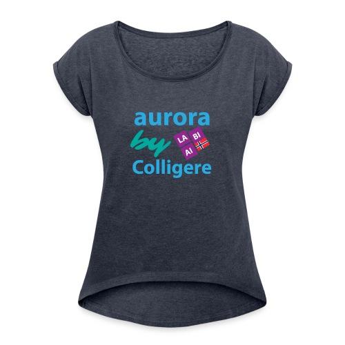 Aurora by Colligere - T-skjorte med rulleermer for kvinner