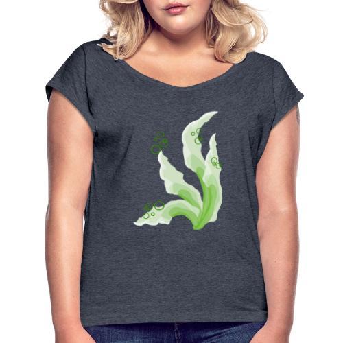 pennelli acquerello verde - Maglietta da donna con risvolti