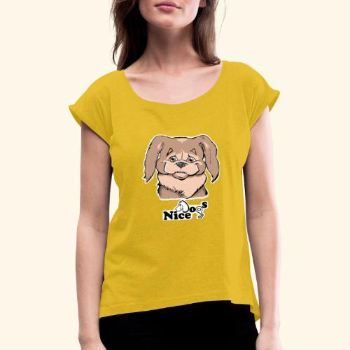 PECHINESE 2 - Maglietta da donna con risvolti