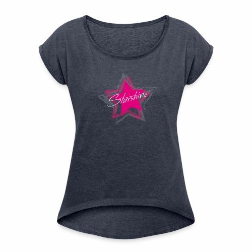 Starshine - Frauen T-Shirt mit gerollten Ärmeln