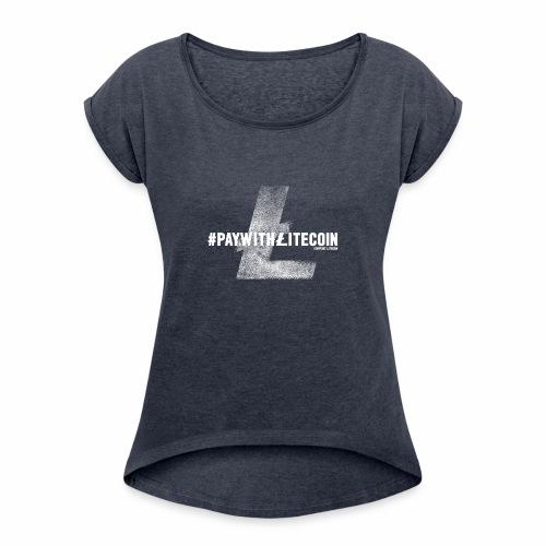 #paywithlitecoin - Maglietta da donna con risvolti