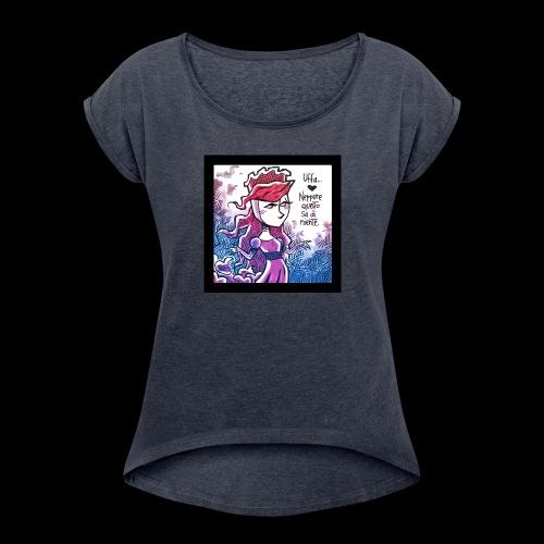 TronoVacante Dama Matelda 1 - Maglietta da donna con risvolti