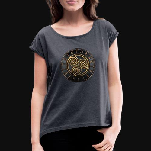 Triskele - T-shirt à manches retroussées Femme