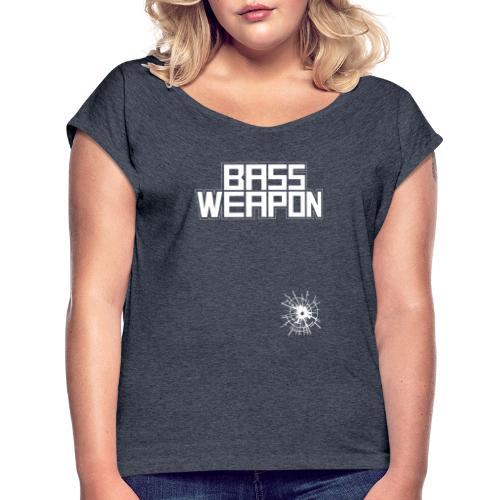 logo oben schuss untne - Frauen T-Shirt mit gerollten Ärmeln