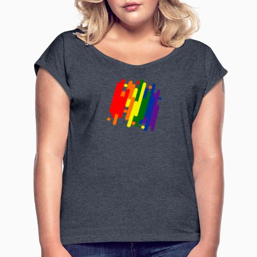Abstract Pride Design - Women's T-Shirt with rolled up sleeves