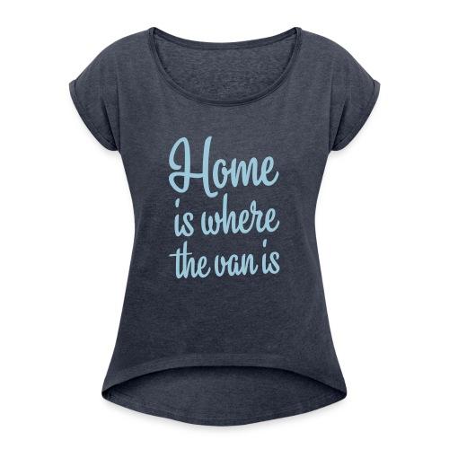 camperhome01b - T-skjorte med rulleermer for kvinner