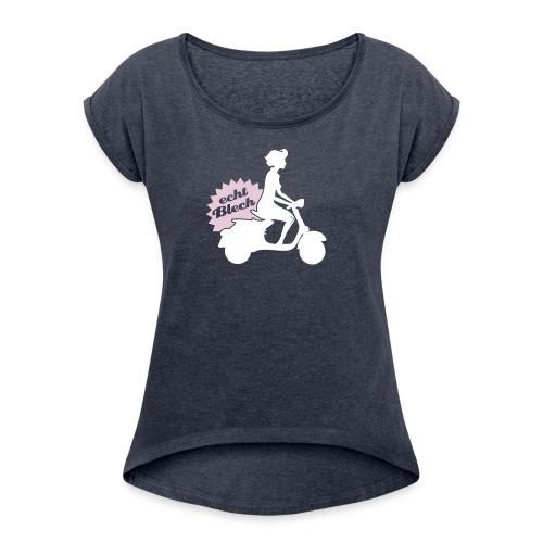 motobiene - Frauen T-Shirt mit gerollten Ärmeln