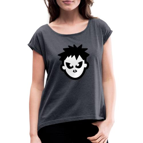 Sorskoot Head - Women's T-Shirt with rolled up sleeves