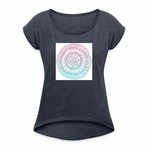 mandala - T-shirt à manches retroussées Femme