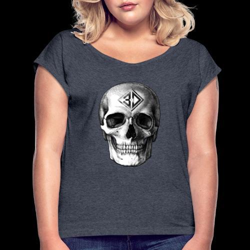 Skull tatoo - T-shirt à manches retroussées Femme