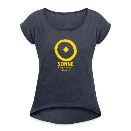 Planet Sonne - Frauen T-Shirt mit gerollten Ärmeln