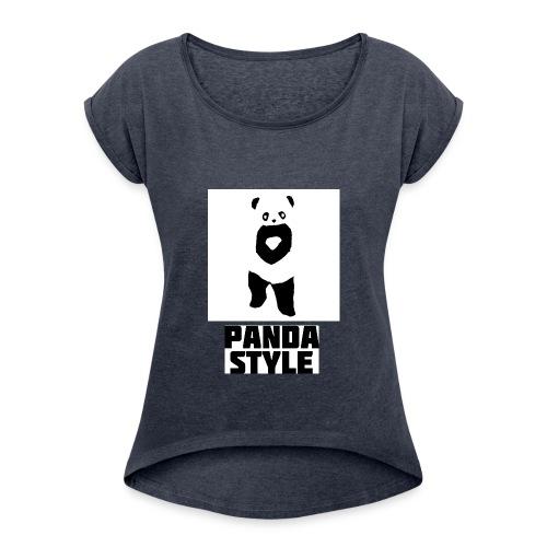 fffwfeewfefr jpg - Dame T-shirt med rulleærmer
