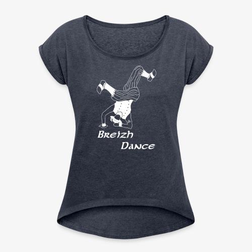 BZH Atypik Design - Breizh Dancer - T-shirt à manches retroussées Femme