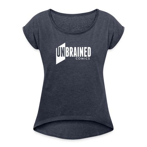 Unbrained LOGO - Camiseta con manga enrollada mujer