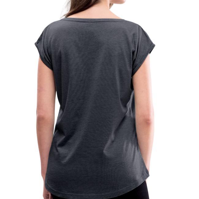 Vorschau: Beste Mama zwischn Gigritzpotschn und Drübsdrü - Frauen T-Shirt mit gerollten Ärmeln