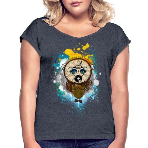 Remember the futur Souviens toi du futur - T-shirt à manches retroussées Femme