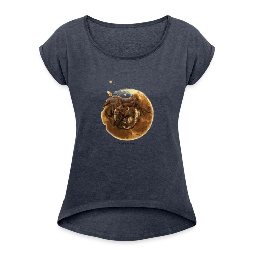 Oeuf Meurette - T-shirt à manches retroussées Femme