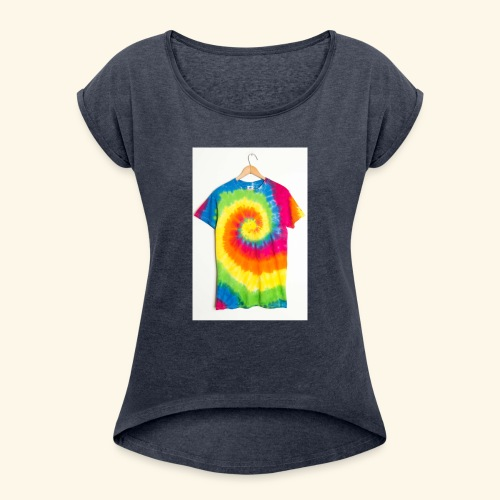 tie die - Women's T-Shirt with rolled up sleeves