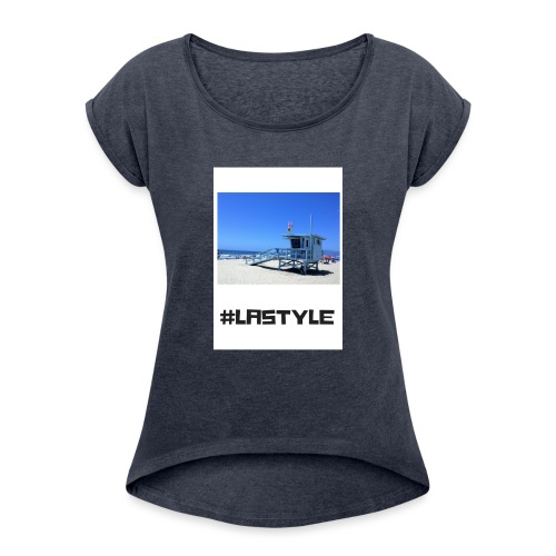 LA STYLE 2 - Women's T-Shirt with rolled up sleeves