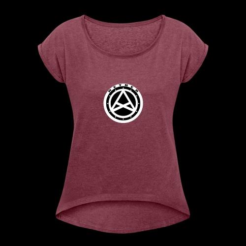 Nether Crew Black\White T-shirt - Maglietta da donna con risvolti