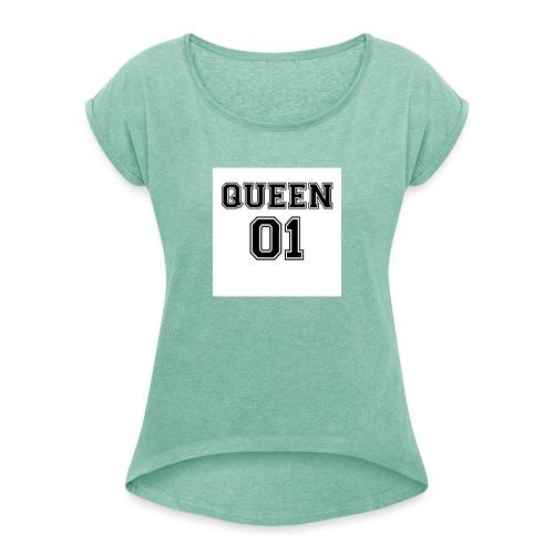 Queen 01 - T-shirt à manches retroussées Femme