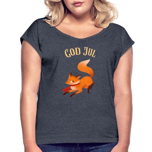 God jul - T-skjorte med rulleermer for kvinner