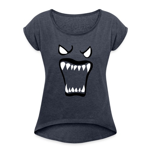 Monsters running wild - T-shirt med upprullade ärmar dam