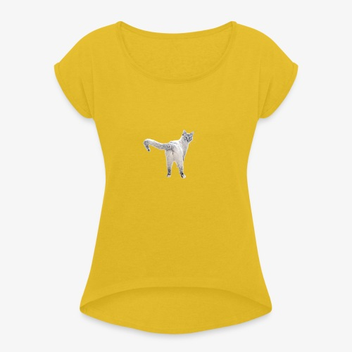 snow1 - Women's T-Shirt with rolled up sleeves