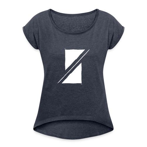 Muzik & Friendz Records Logo - Vrouwen T-shirt met opgerolde mouwen