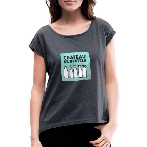 absinth03 - Frauen T-Shirt mit gerollten Ärmeln