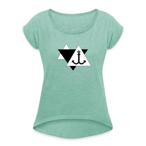 Anker 3 - Frauen T-Shirt mit gerollten Ärmeln