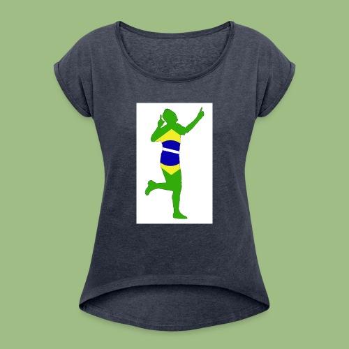 Neymár Brazil - T-shirt med upprullade ärmar dam