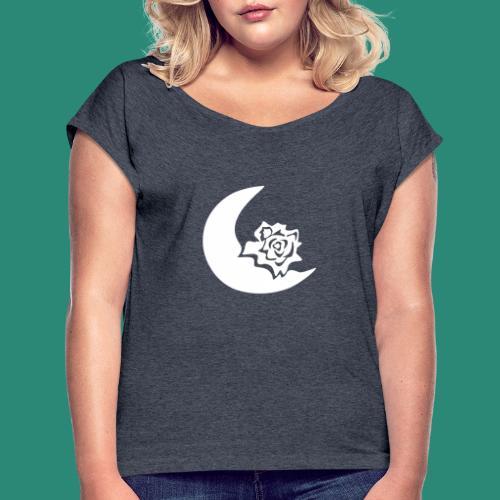 Mondblume svg - Frauen T-Shirt mit gerollten Ärmeln