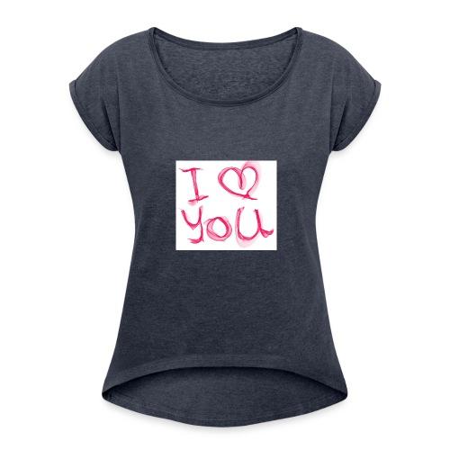 love 1314695 960 720 - T-shirt à manches retroussées Femme