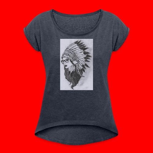 indian - Maglietta da donna con risvolti