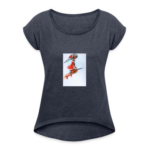 Mère noel - T-shirt à manches retroussées Femme